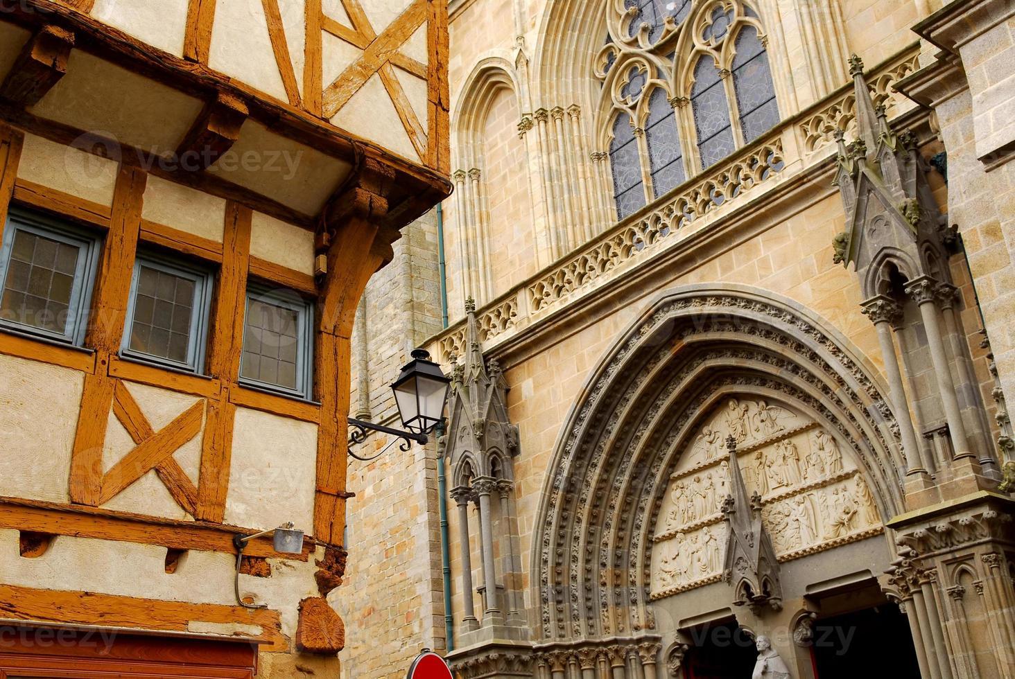 mittelalterliche vannes, frankreich foto