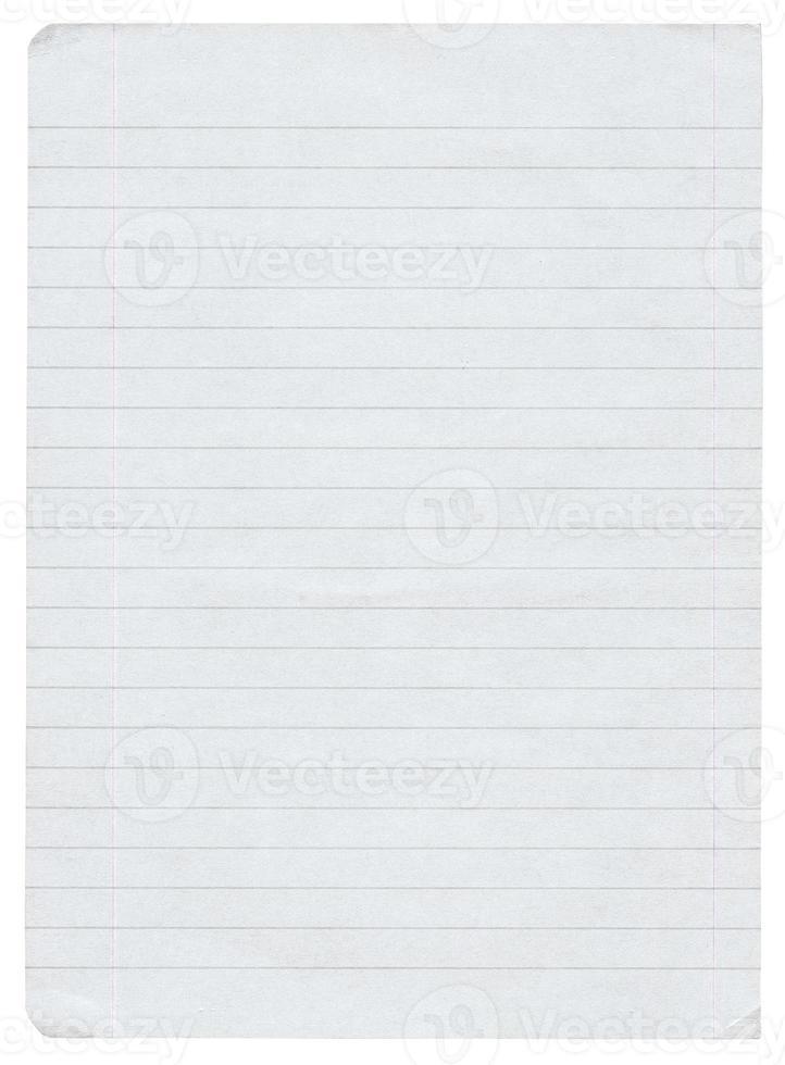 liniertes Papier in XL-Größe foto