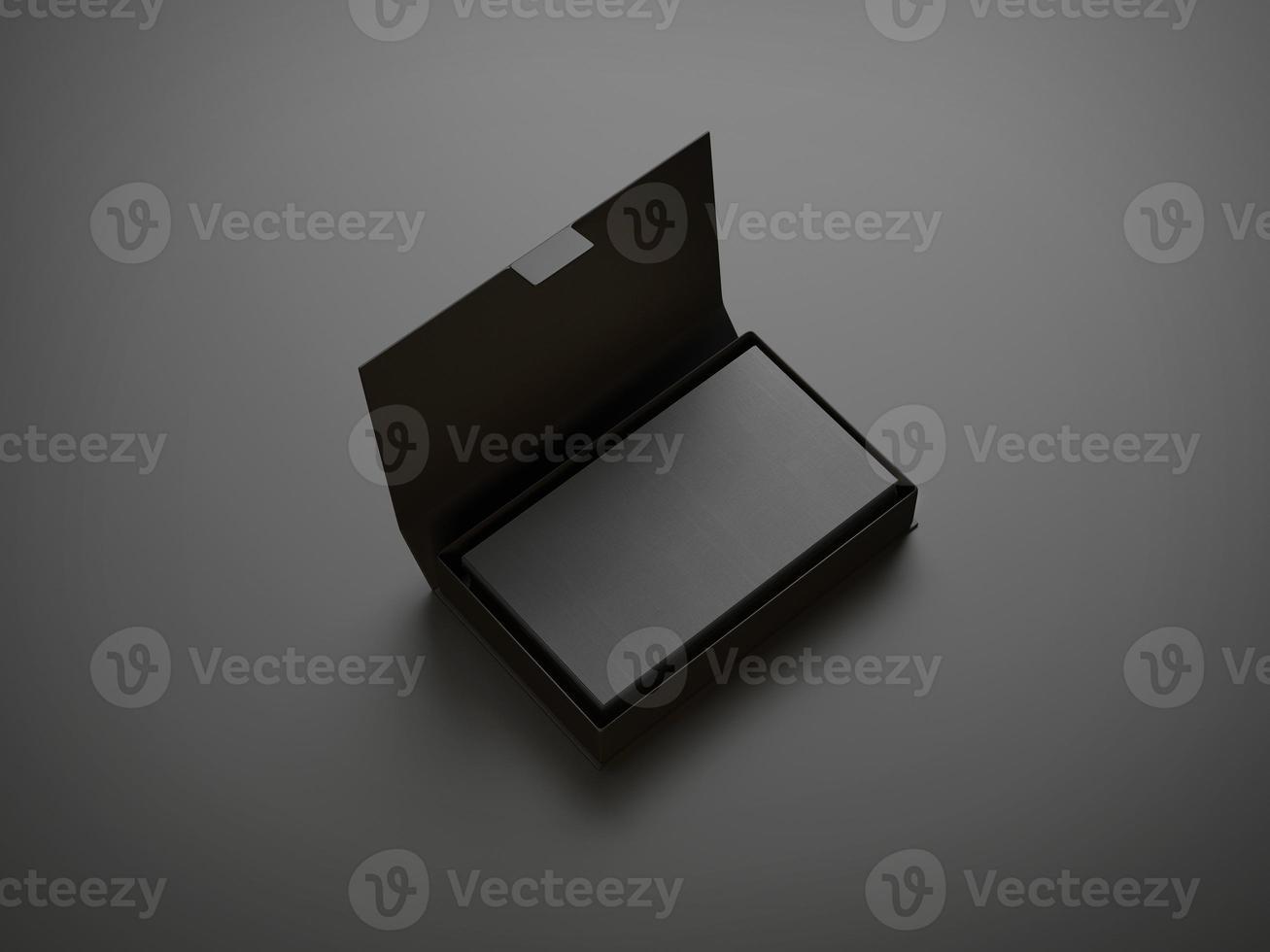 schwarze Visitenkarte in der Box foto