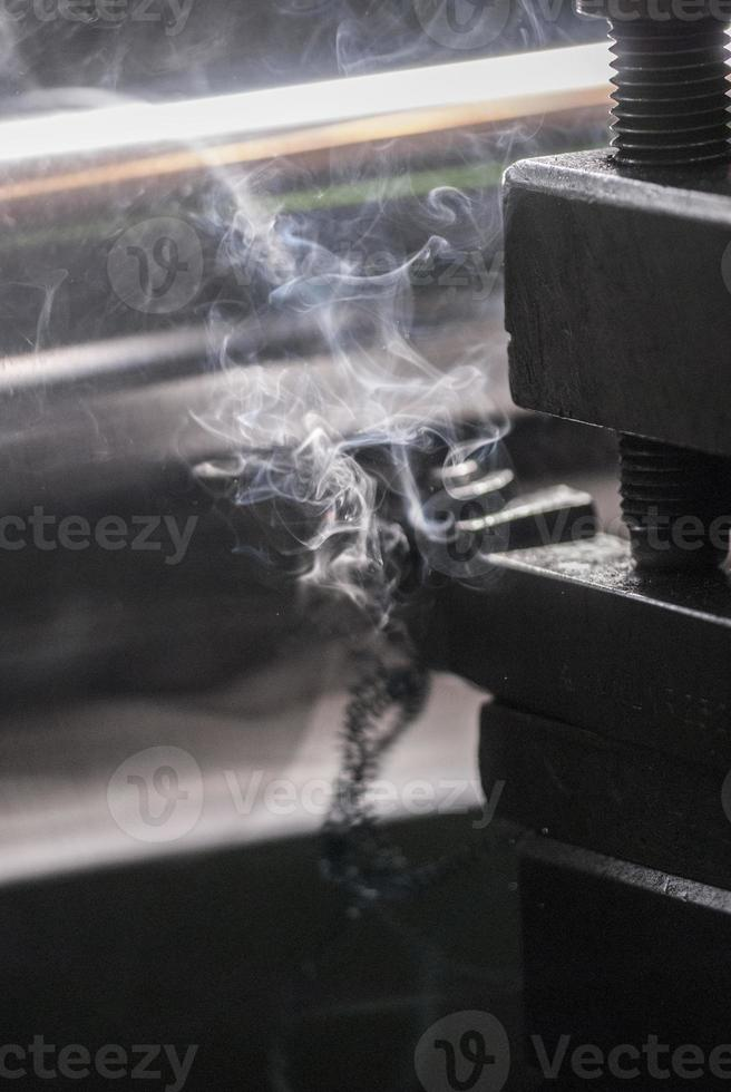 Metalldrehmaschine foto
