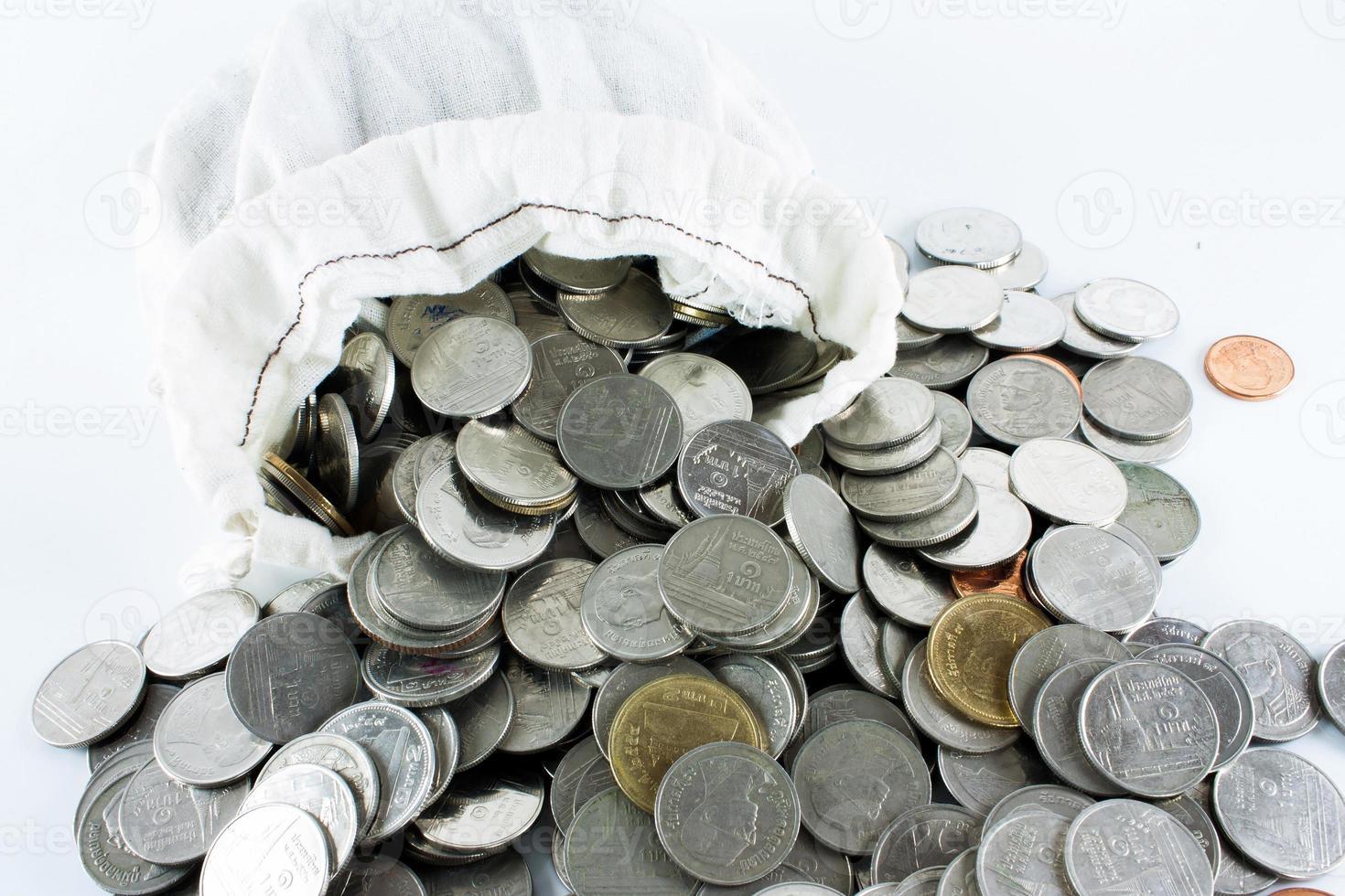 thailändische münzen baht foto