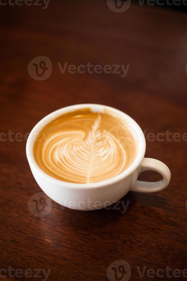 Cappuccino mit Latte Art foto