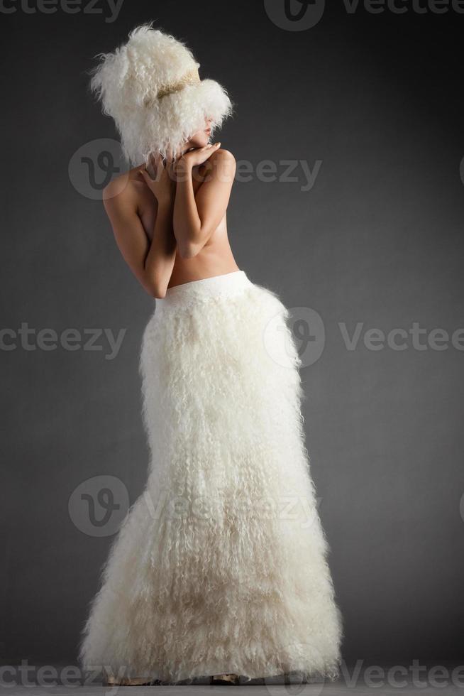 Wolle auf Grau foto
