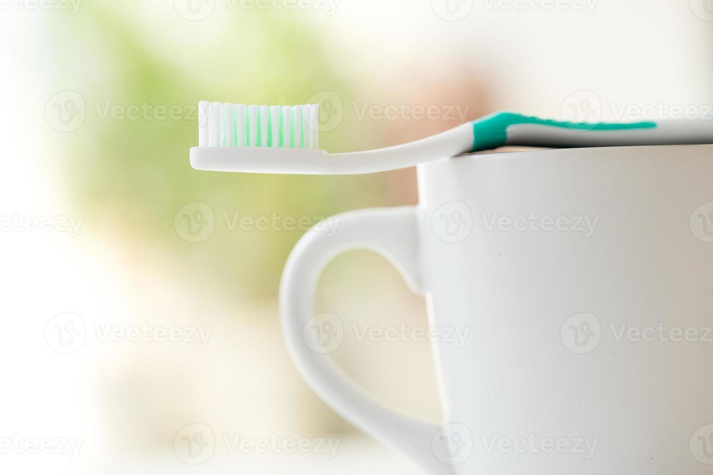 Zahnbürstenset für die Zahnpflege foto