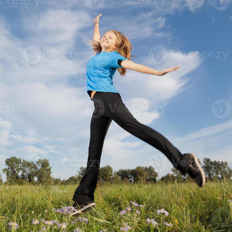 glückliches Mädchen foto