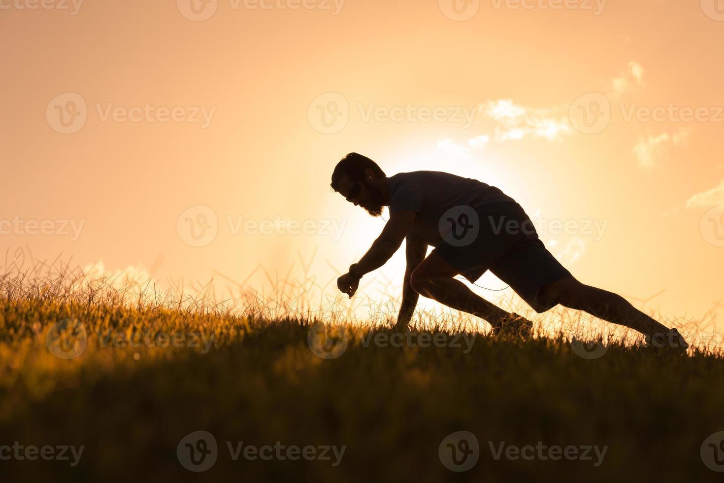 männlicher Läufer foto