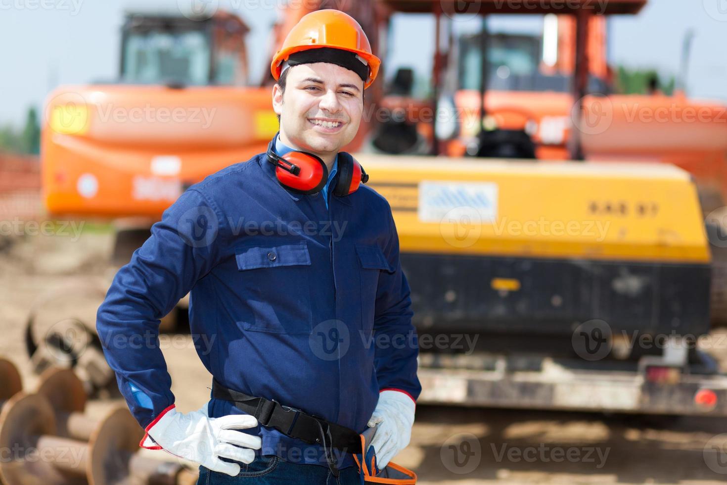 männlicher Senior Manager im Freien foto