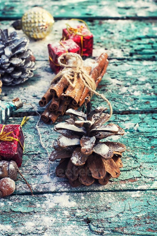 Weihnachtskomposition. foto