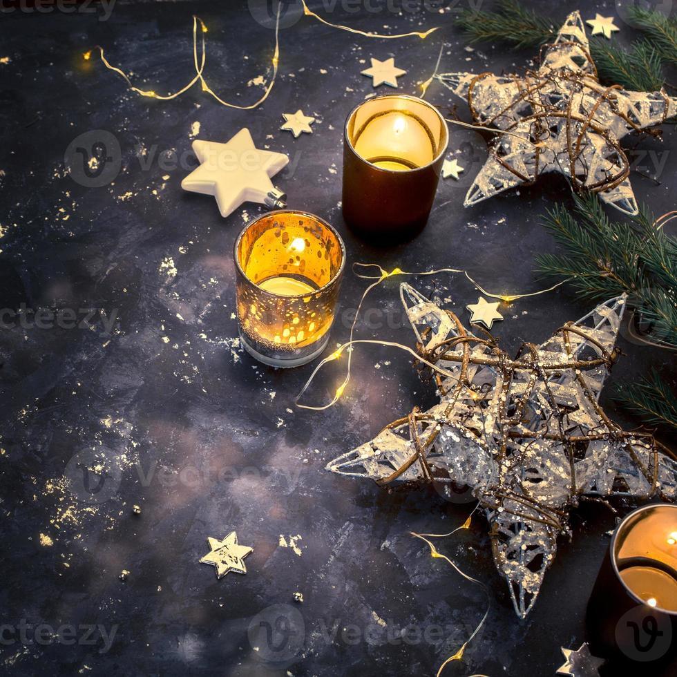 Weihnachtsfeiertagsdekorationen foto