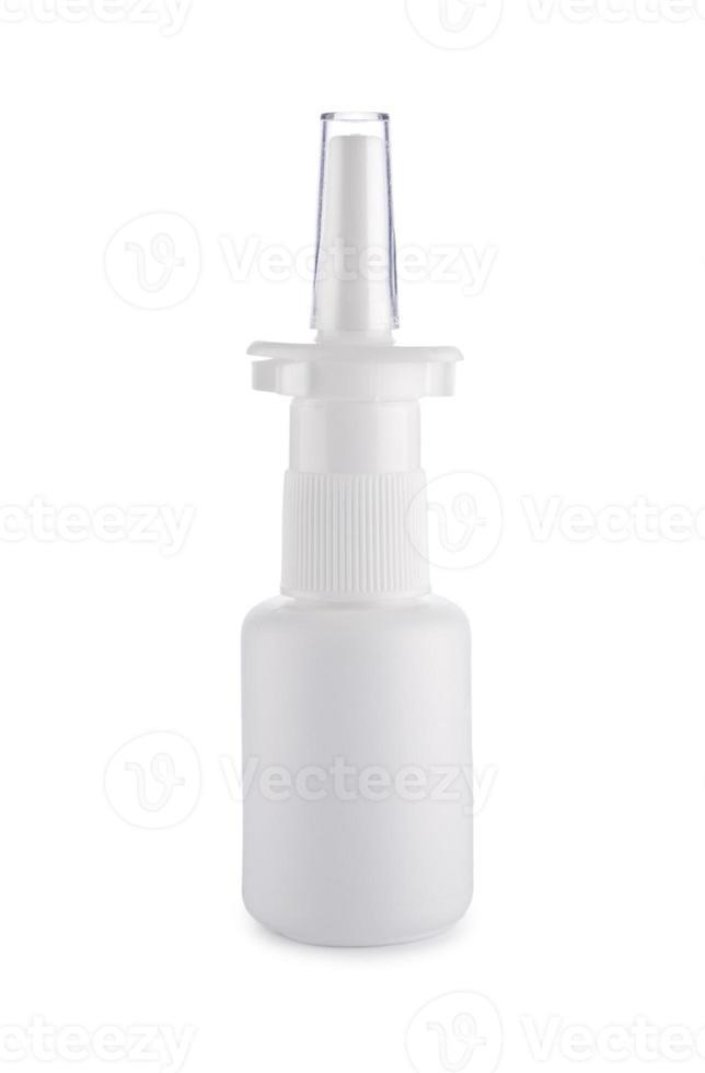 weiße medizinische Flasche foto
