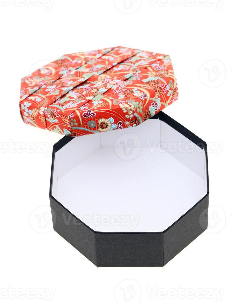 Geschenkbox mit japanischem Muster foto