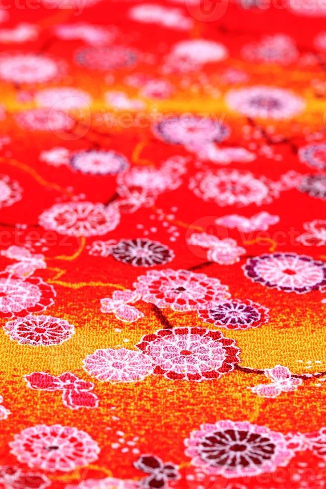 japanisches Muster aus Kimonostoff foto