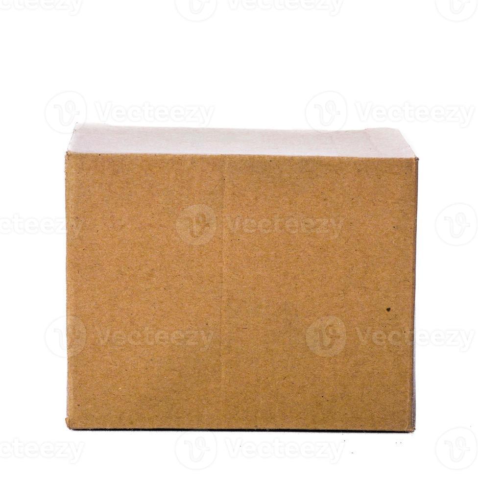 vorderer Karton, isoliert auf weiß foto