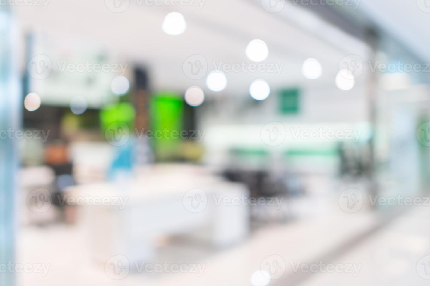 Geschäft, Einkaufszentrum Büro abstrakt defokussiert unscharfen Hintergrund foto