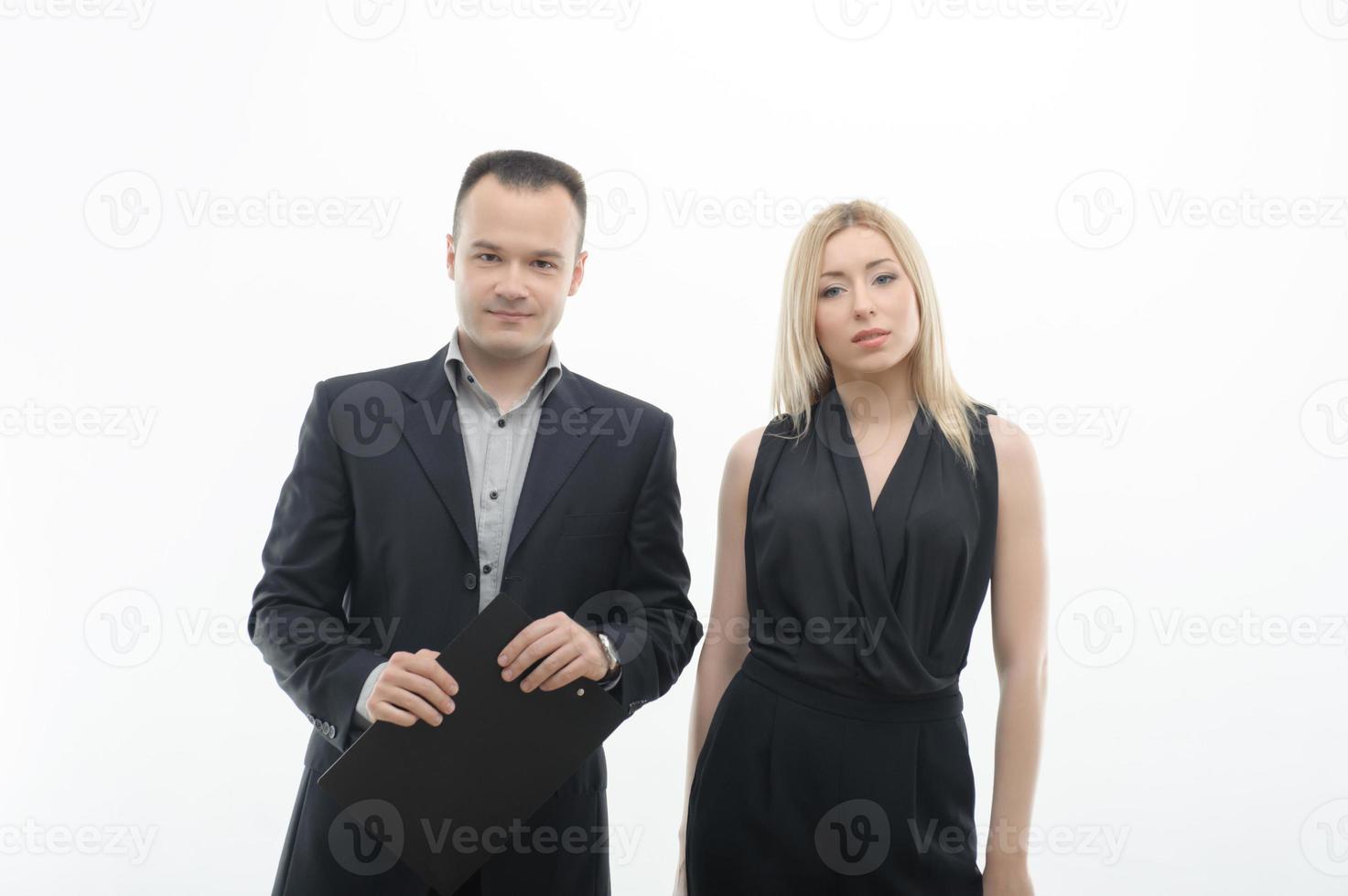 junge Bürokollegen posieren foto