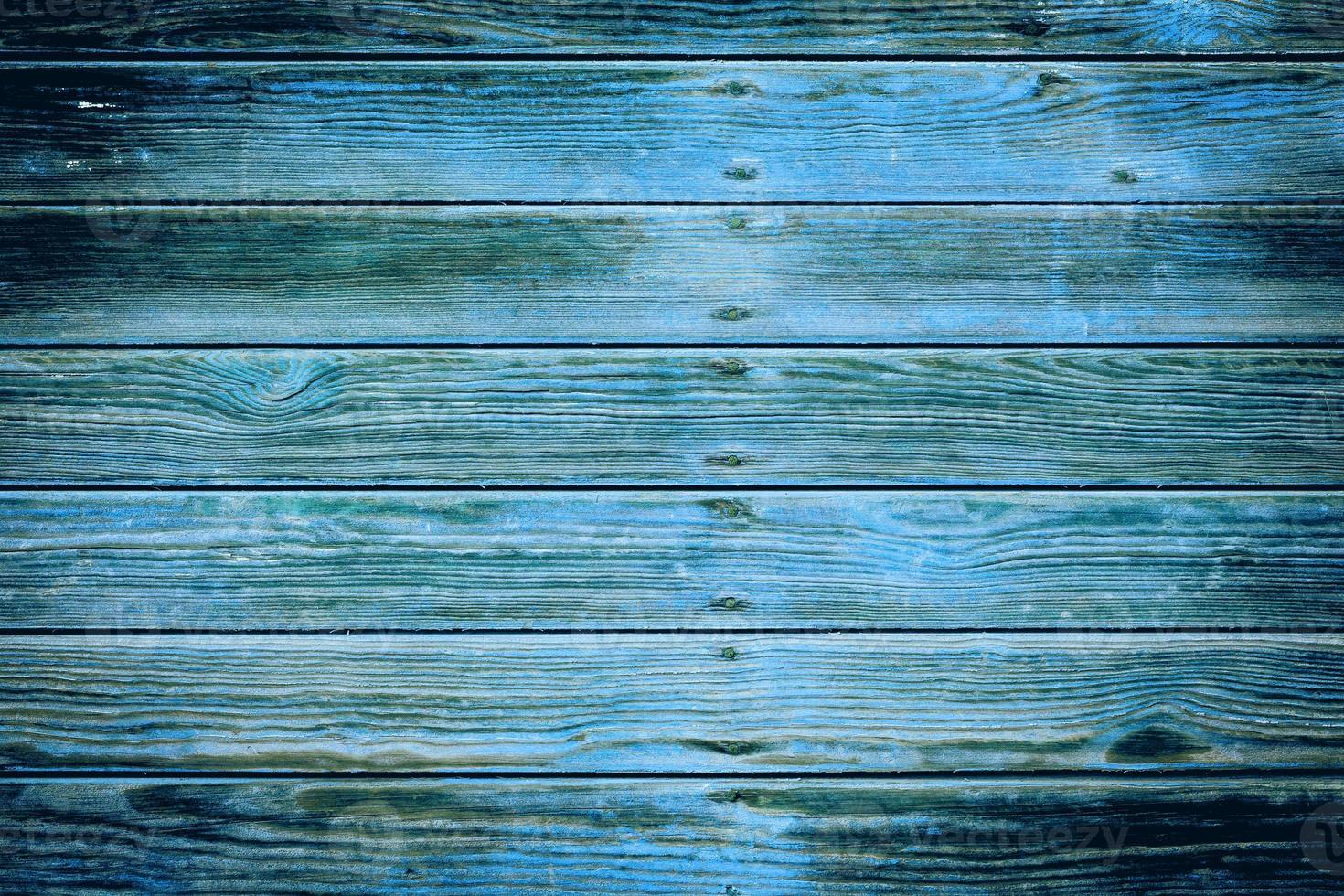 die alte blaue Holzstruktur mit natürlichen Mustern foto