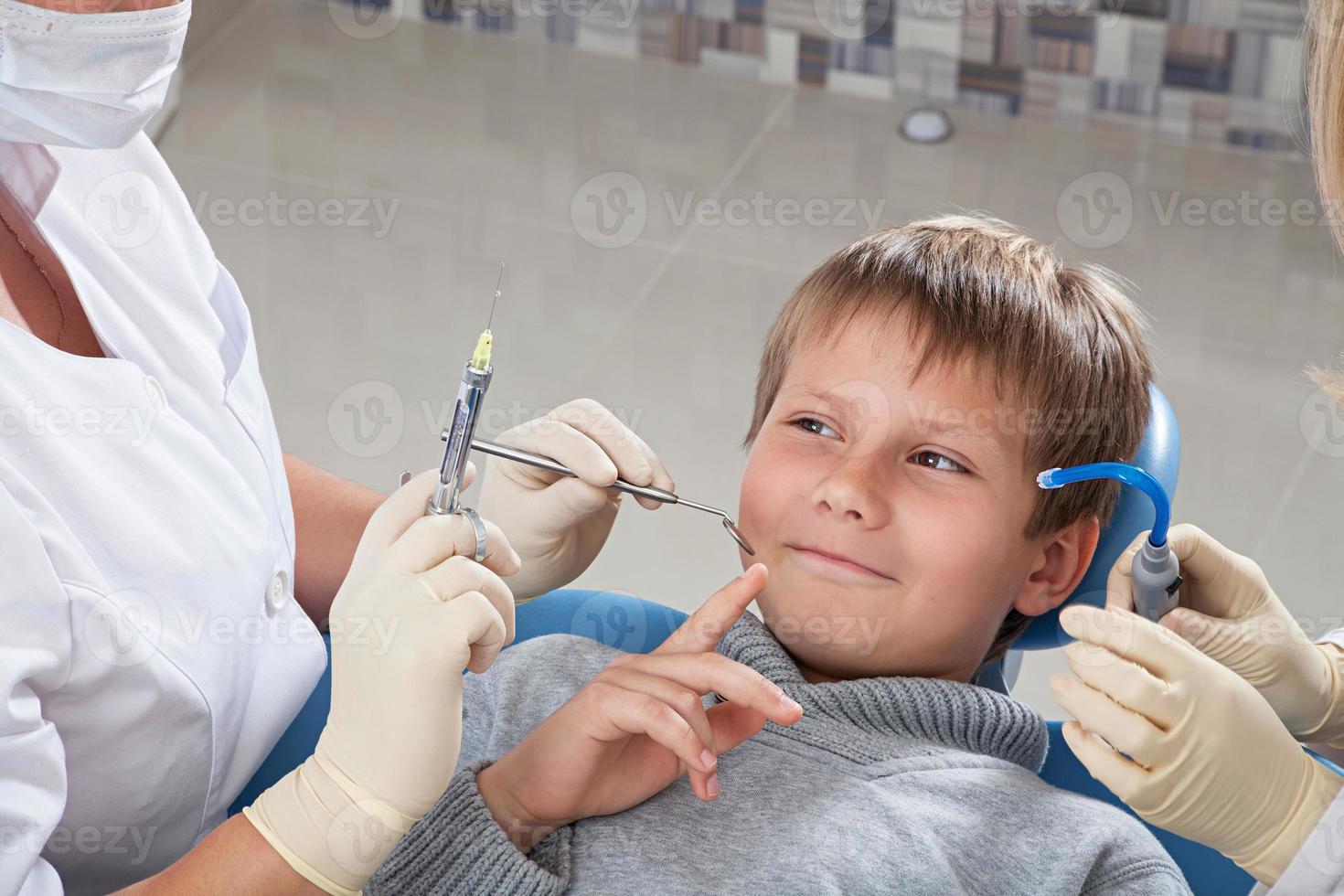 o nicht einverstanden sein, eine Injektion zu setzen foto