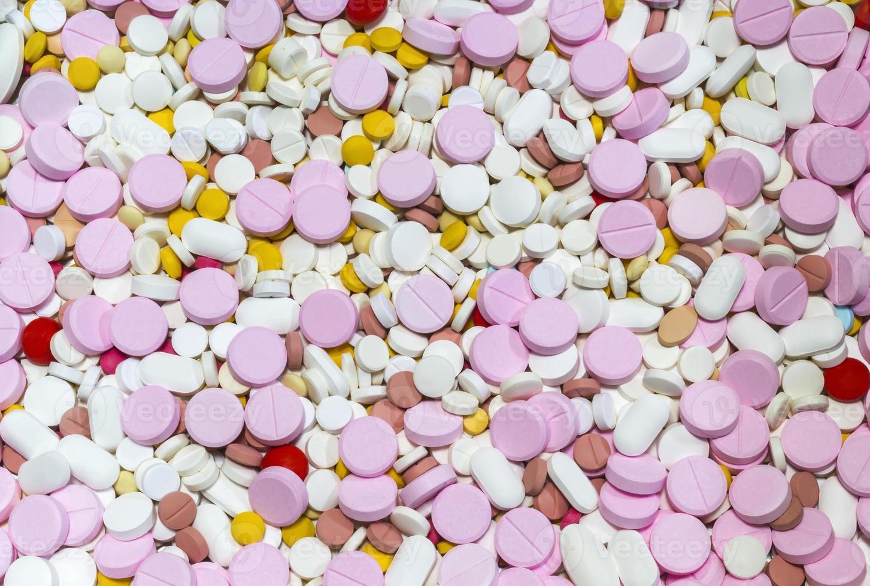 bunt von vielen Medikamenten foto