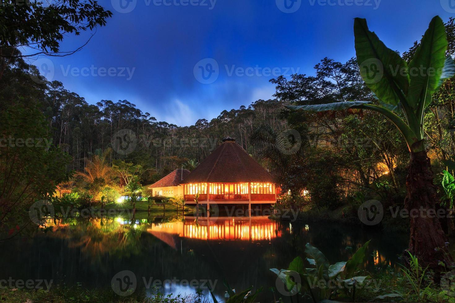 Dschungel Lodge Nacht foto