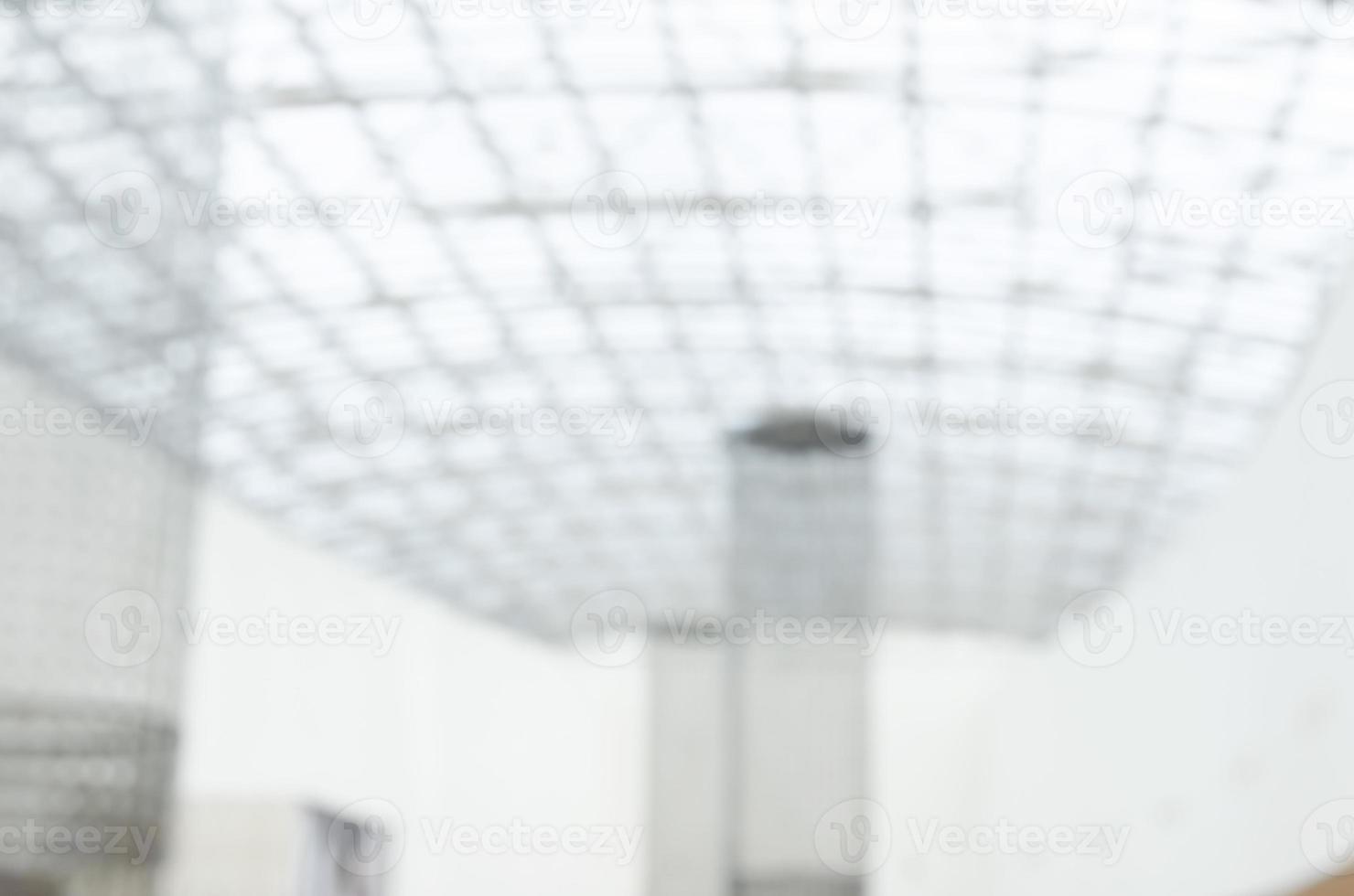 defokussierter Hintergrund der Unternehmenslobbydecke - Archivbild foto