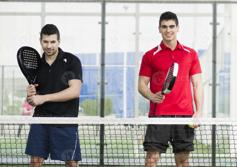 Paddle-Tennis-Spieler foto