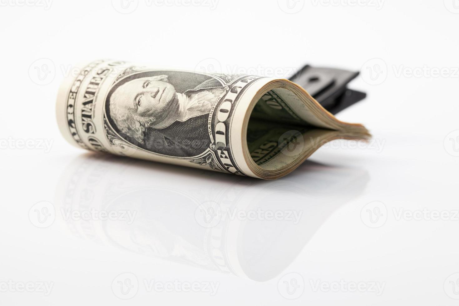 Paket von uns Dollarnoten foto