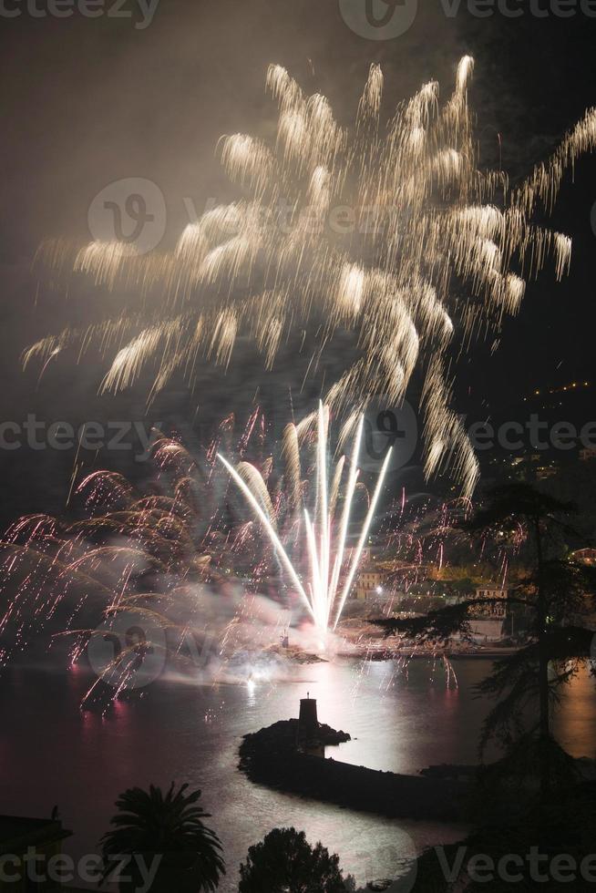Feuerwerk Recco Italien foto
