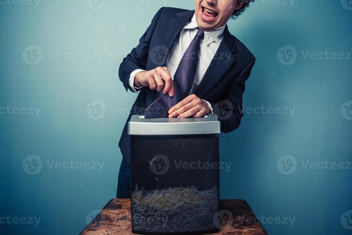 ungeschickter Geschäftsmann foto