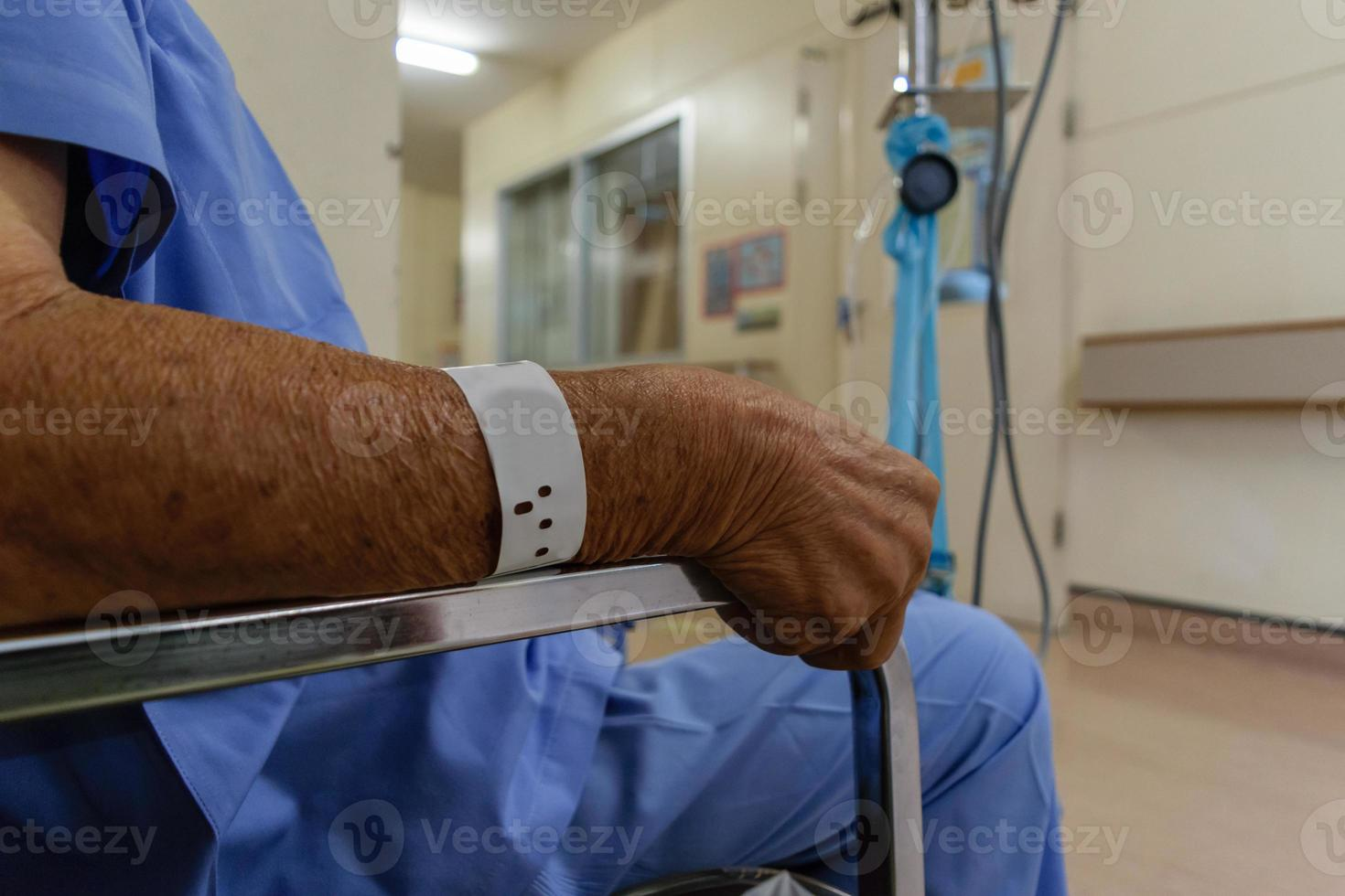 Patient im Krankenhaus foto