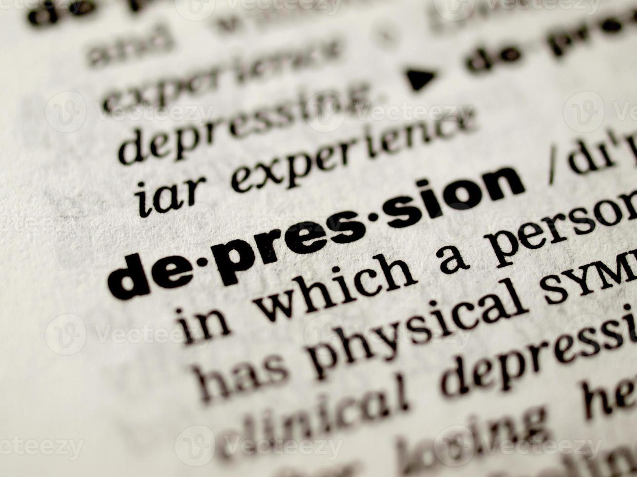 Depressionsdefinition foto