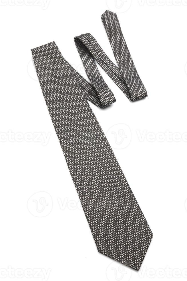 Krawatte auf weißem Hintergrund - Nahaufnahme foto