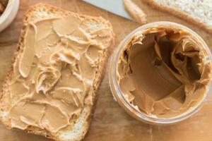 Erdnussbuttersandwich foto