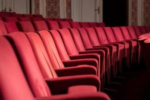 leere Theaterstühle foto