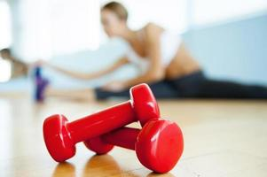 Sport- und Fitnesskonzept. foto