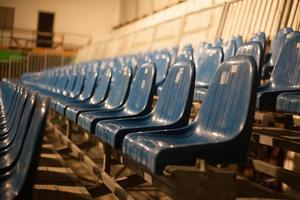 leere blaue Theatersitze foto