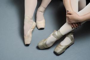 Mädchen Ballett Training Studio Blitz Spitzenschuhe foto