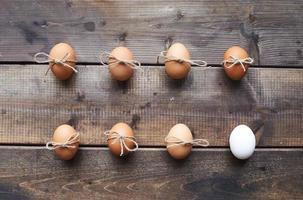 Eier mit Schleifen foto