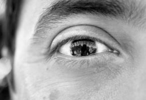 Makro mit braunen Augen foto