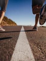 Läufer mitten auf der Straße