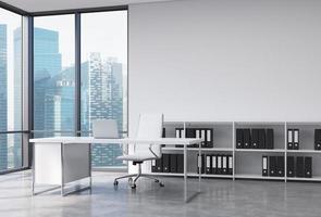 CEO Arbeitsplatz im Büro mit Singapur