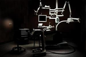 dunkle Zahnarztpraxis foto