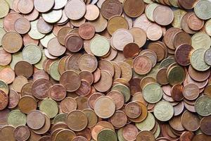 Münzen Hintergrund Cent foto