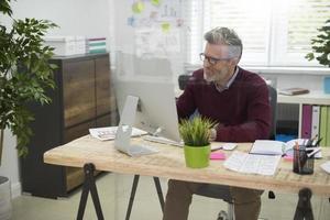 Arbeit im Büro muss nicht langweilig sein foto