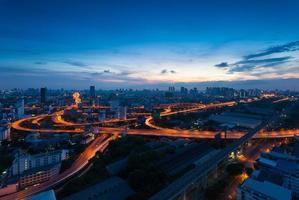 Bürogebäude modernes Geschäftsviertel von Bangkok, Thailand foto