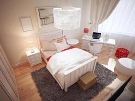 Idee des Art-Deco-Schlafzimmers foto