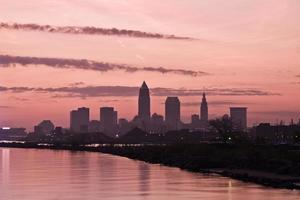 Silhouette der Innenstadt von Cleveland