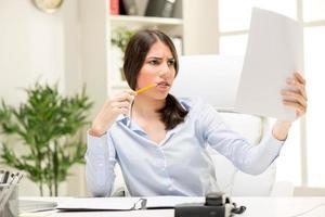 Geschäftsfrau mit Problemen foto