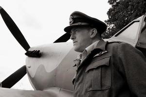 Schlacht von Großbritannien Pilot. foto
