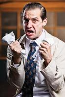 wütender Geschäftsmann foto