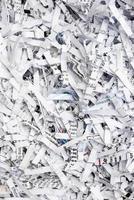 geschredderte Papier Textur Hintergrund foto